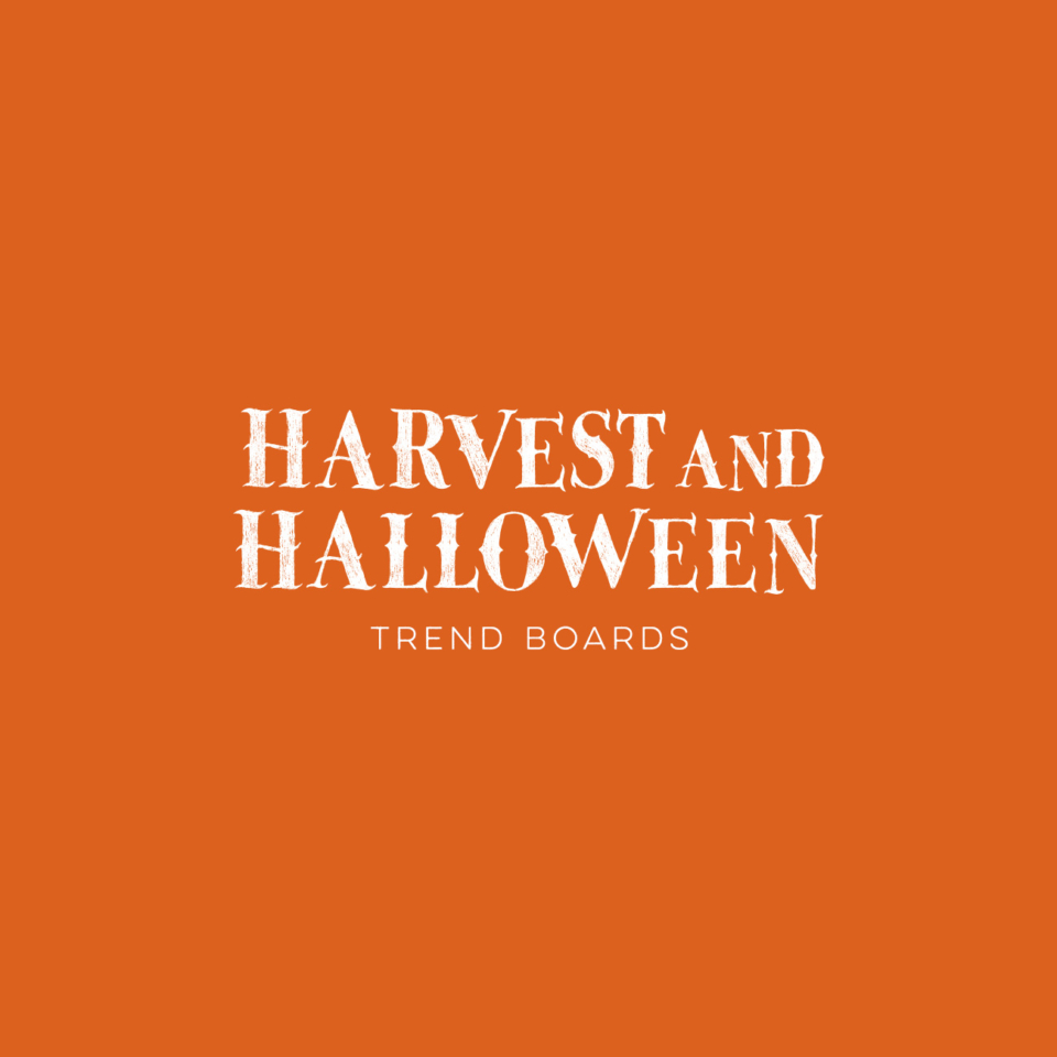Halloween & Harvest Trend Boards